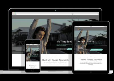 WordPress Responsive Fitness Theme One