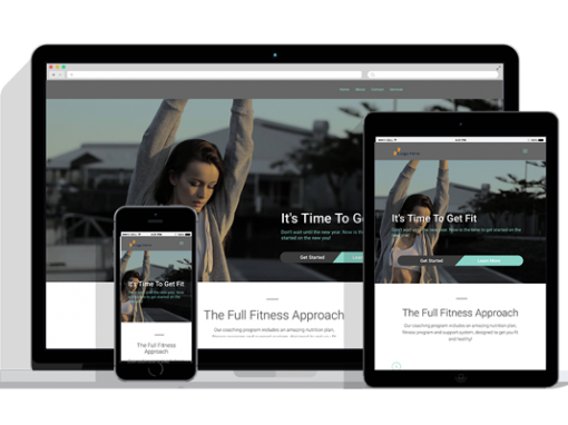 WordPress Responsive Fitness Theme One