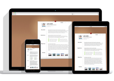 WordPress Responsive Resume Theme One