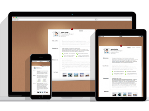 WordPress Responsive Resume Theme One