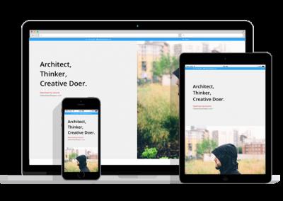 WordPress Responsive Resume Theme Two