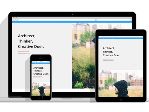 WordPress Responsive Resume Theme Two