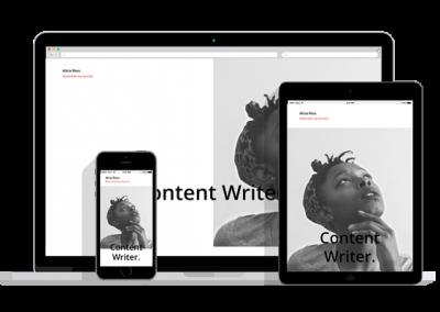 WordPress Responsive Resume Theme Four