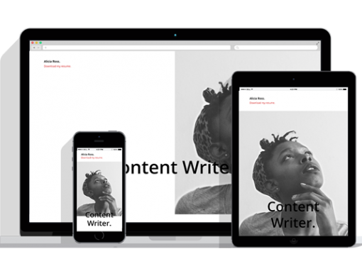 WordPress Responsive Resume Theme Four