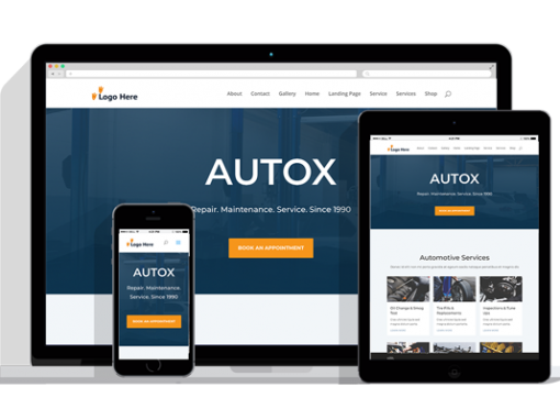 WordPress Responsive Auto Repair Theme