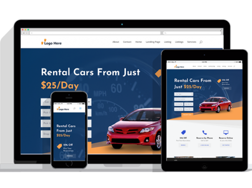 WordPress Responsive Car Rental Theme