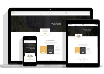 WordPress Responsive Consultant Theme Two