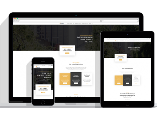 WordPress Responsive Consultant Theme Two