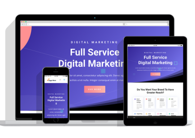 WordPress Responsive Digital Marketing Theme