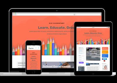 WordPress Responsive Elementary School Theme