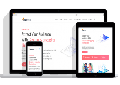 WordPress Responsive Graphic Illustrator Theme