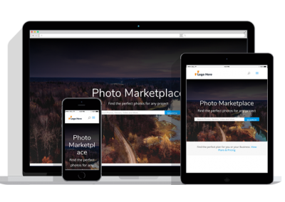 WordPress Responsive Photo Marketplace Theme