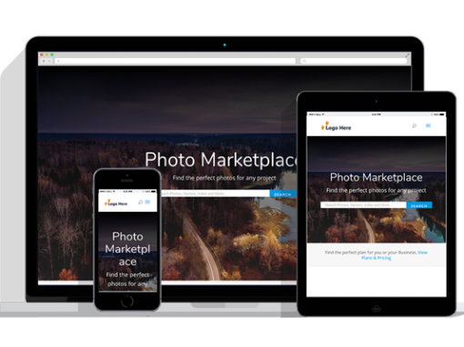 WordPress Responsive Photo Marketplace Theme