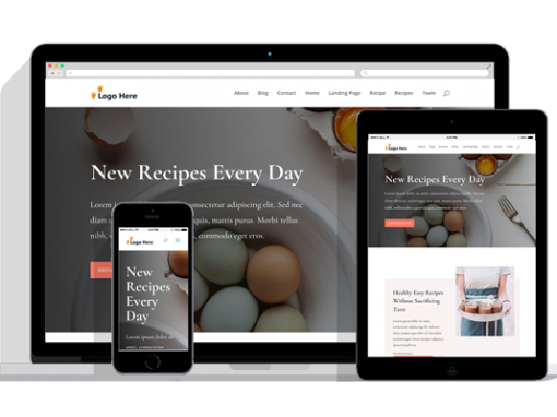 WordPress Responsive Recipes Theme