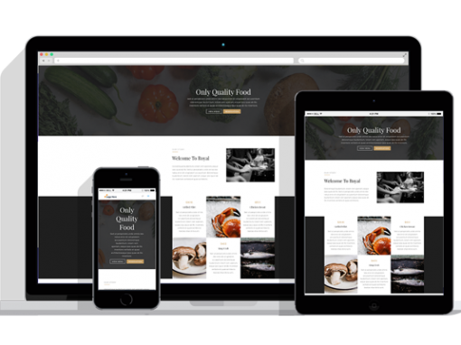 WordPress Responsive Restaurant Theme Five