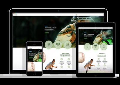 WordPress Responsive Sport Team Theme